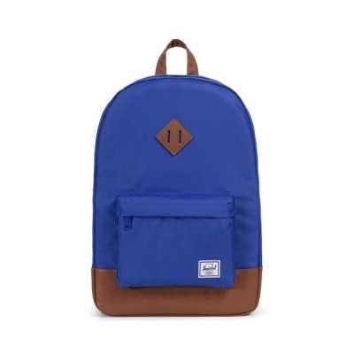 リュック Heritage Backpack / Deep Ultramarine/Tan Synthetic Leather 21.5L