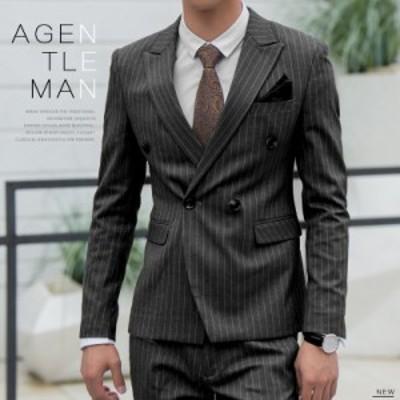 スーツジャケット メンズ カジュアル トップス ストライプ 上着 テーラードジャケット スリム  カジュアル 四季 ファッション ビジネス