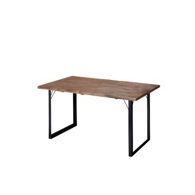 重厚感のある天然木のダイニングテーブル<4人用/6人用>