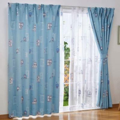 Sanrio(サンリオ) I'm Doraemon ドラえもん 遮光カーテン+レースカーテン4枚セット 幅100×200cm丈 SB-507