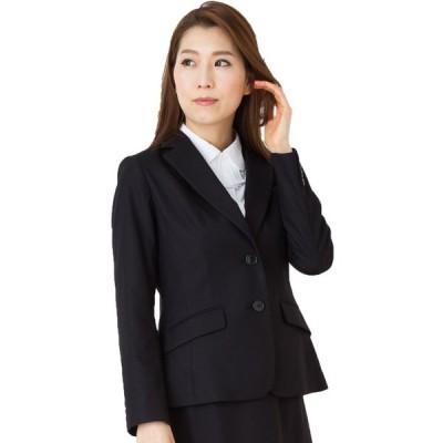 大人フェミニンなストレッチジャケット 事務服 オフィス制服 FOLK nuovo 2018SS 大きいサイズ 黒