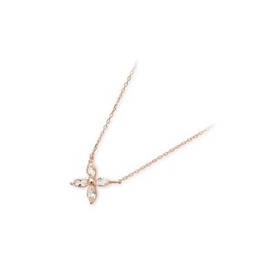 ピンクゴールド ネックレス 彼女 プレゼント ラバーズアンドリング 誕生日 送料無料 レディース