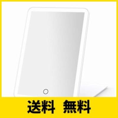 BESTOPE LED化粧鏡 折立ミラー 折立鏡 3色光 照明調節可能 USB充電 手鏡 コンパクト スタンドミラー 折りたたみ式 角度調整自由 タッ