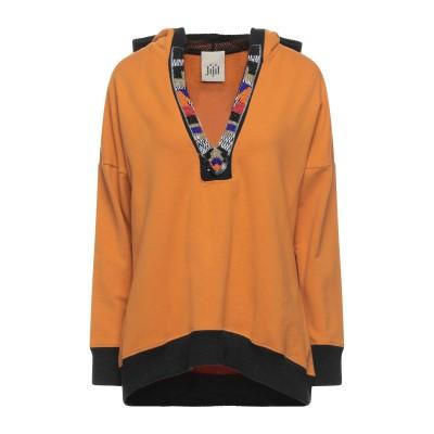 ジジル JIJIL スウェットシャツ オレンジ 40 コットン 94% / エラストマルチエステル 6% スウェットシャツ