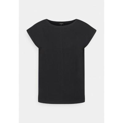 モア アンド モア Tシャツ レディース トップス Basic T-shirt - black