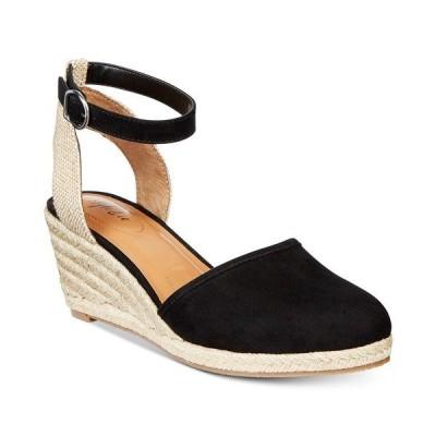 スタイルアンドコー サンダル シューズ レディース Mailena Wedge Espadrille Sandals, Created for Macy's Black