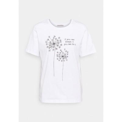 アンナフィールド Tシャツ レディース トップス Print T-shirt - white