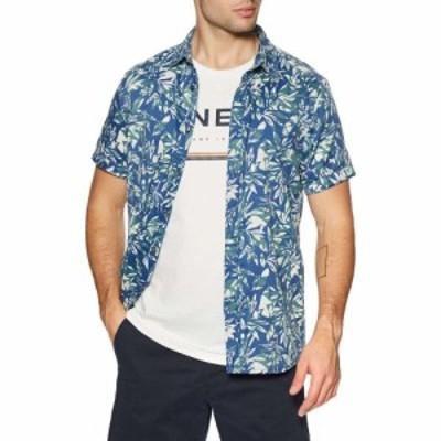 オニール ONeill メンズ 半袖シャツ トップス Vert Stripe Short Sleeve Shirt White Aop