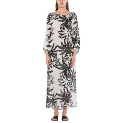 SOLOBLU ビーチドレス ホワイト S レーヨン 60% / シルク 40% ビーチドレス