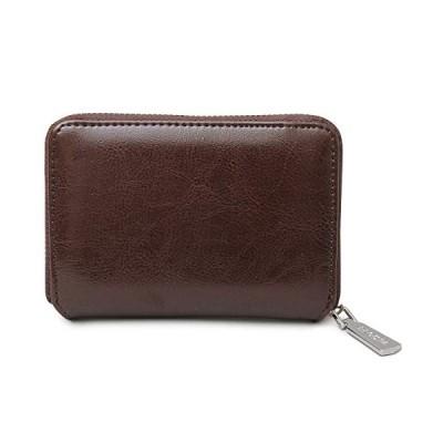 [レジスタ] レザー ビルフォードウォレット ラウンドファスナー 二つ折り財布 ボックス型小銭入れ ダークブラウン