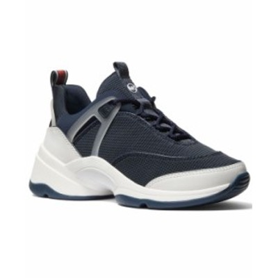 マイケルコース レディース スニーカー シューズ Sparks Trainer Lace-Up Sneakers Navy