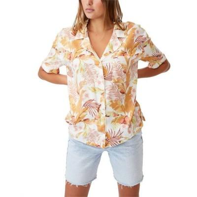 コットンオン レディース シャツ トップス Women's Tropical Short Sleeve Shirt