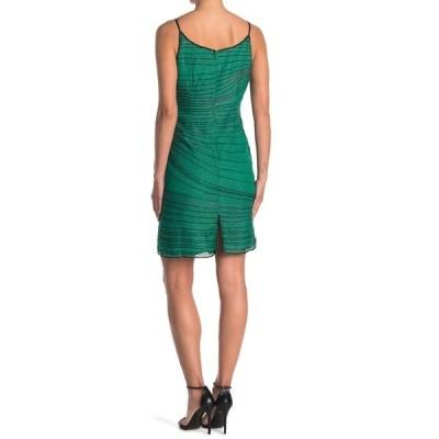 ラガ レディース ワンピース トップス Sleeveless Beaded Short Dress GREEN