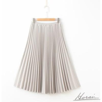 ハイウエスト ミディアム丈スカート プリーツスカート シンプル きれいめ ベーシック 体型カバー 20代 30代 お出掛け
