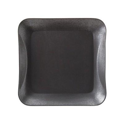 桐井陶器 フロウ プレートL マットブラック 303-5917
