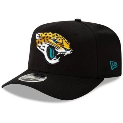 ユニセックス スポーツリーグ フットボール Jacksonville Jaguars New Era Team 9FIFTY Adjustable Snapback Hat - Black - OSFA 帽子