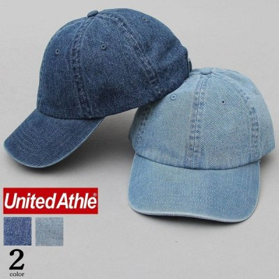 United Athle ユナイテッドアスレ バイオウォッシュ加工 デニム ローキャップ キャップ 帽子 ナチュラル ストリート ユニセックス