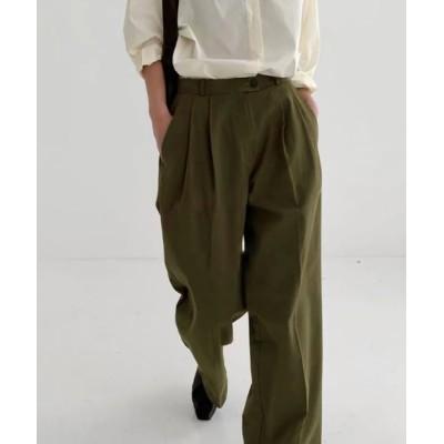 UNE MANSION / タックボリュームコットンツイルワイドパンツ【数量限定販売】 WOMEN パンツ > スラックス