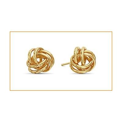 14k Yellow Gold Diamond-Cut Love Knot Stud Earrings【並行輸入品】