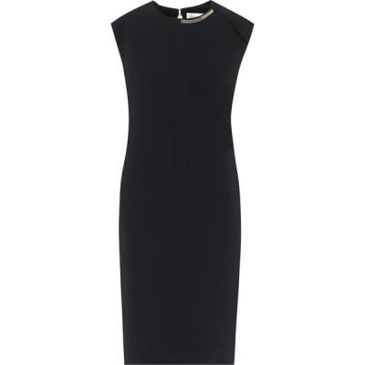ヴィクトリア ベッカム Victoria Beckham レディース パーティードレス ミドル丈 ワンピース・ドレス embellished stretch-cady midi dress Black