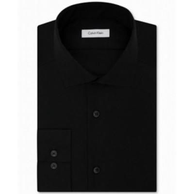 Calvin Klein カルバンクライン ファッション ドレス Calvin Klein Mens Black Size 18 Slim Fit Performance Dress Shirt