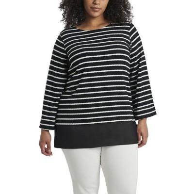 ヴィンスカムート レディース シャツ トップス Women's Plus Size Long Sleeve Stripe Tunic