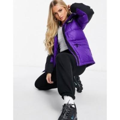 ノースフェイス レディース ジャケット・ブルゾン アウター The North Face Himalayan puffer jacket in purple TNF black
