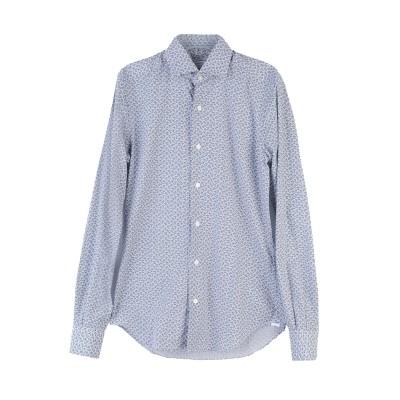 XACUS シャツ ブルー 37 コットン 100% シャツ