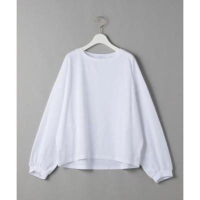 tシャツ Tシャツ BY コットンサイドスリット パフロングスリーブカットソー