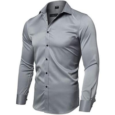 長袖 シャツ ワイシャツ メンズ 半袖 Yシャツ おしゃれ 細身 無地 カラー 15色 ビジネス カジュアル 通勤着 制服(s2103100268)