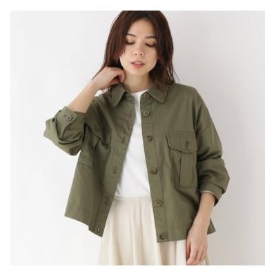 【グローブ/grove】 サファリ風シャツジャケット