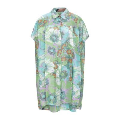 CIRCUS HOTEL ミニワンピース&ドレス グリーン S シルク 100% ミニワンピース&ドレス