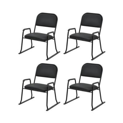 エイ・アイ・エス 楽座椅子 ハイタイプ 4脚セット/RCH-04BK x4PCS ブラック/570x530x670mm