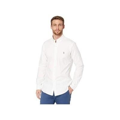 ポロ・ラルフローレン Slim Fit Stretch Oxford Shirt メンズ シャツ トップス Bsr White