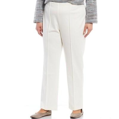 ルビーロード レディース カジュアルパンツ ボトムス Plus Size Stretch Ponte Pull-On Pants Ivory