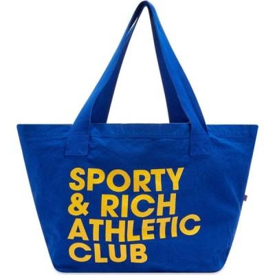 スポーティ アンド リッチ Sporty & Rich メンズ トートバッグ バッグ exercise often tote bag Royal Blue/Yellow