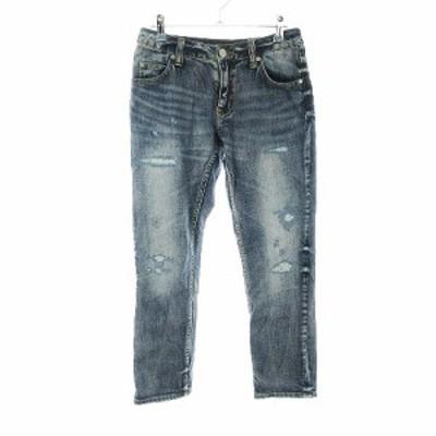 【中古】ビッキー VICKY Jeans パンツ デニム ジーンズ 1 青 ブルー /CK レディース