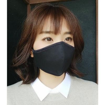 チノ製マスク(無地)黒 大サイズ 2枚セット