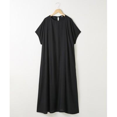 ゆったりマキシ丈レーヨンワンピース (ワンピース)Dress