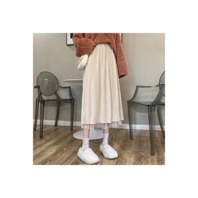 【送料無料】秋と冬 ハイウエスト 何でも似合う フリル メッシュ 妖精のスカート 中 | 346770_A63980-6487804