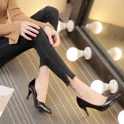 オフィス 通勤  パンプス ハイヒール  レディース ポインテッドトゥ  7CMヒール OL靴 美脚 セール PU 履きやすい おしゃれ 春 夏