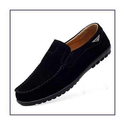 Go Tour Men's Comfortable Casual Slip on Loafer Shoes Black 11 M US/47【並行輸入品】