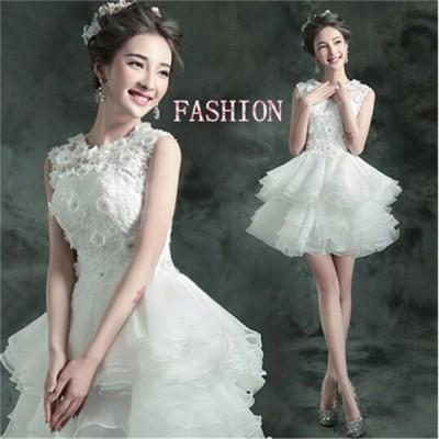Pandora ミニドレス ブライズメイドドレス 花嫁 二次会 ドレス ウェディングドレス 結婚式 小さい 大きいサイズ 演奏会 披露宴