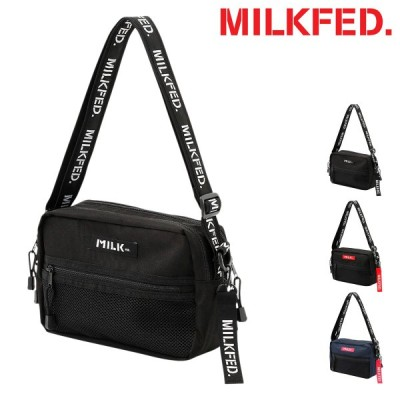 MILKFED. ショルダーバッグ メンズ レディース 03182098 ミルクフェド NEO LOGO TAPE SHOULDER BAG | ボディバッグ