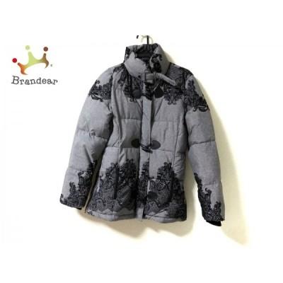 デシグアル Desigual ダウンコート サイズ42 L レディース 美品 グレー×黒 冬物   スペシャル特価 20210123