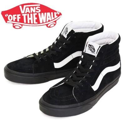 VANS (ヴァンズ バンズ) VN0A4BV618L Sk8-Hi スケートハイ スニーカー (Pig Suede) Black x Black VN271