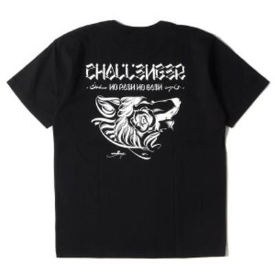 CHALLENGER チャレンジャー Tシャツ ウルフグラフィック Tシャツ WOLF TEE 20AW ブラック L 【メンズ】【美品】【中古】【K2987】