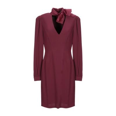 ELISABETTA FRANCHI ミニワンピース&ドレス ボルドー 40 レーヨン 96% / ポリウレタン 4% ミニワンピース&ドレス