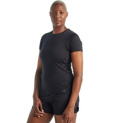 アイスブレーカー レディース Tシャツ トップス Amplify Short-Sleeve Low Crewe Shirt