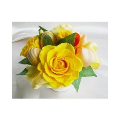 イースター 黄色のバラのアレンジ プリザーブドフラワー